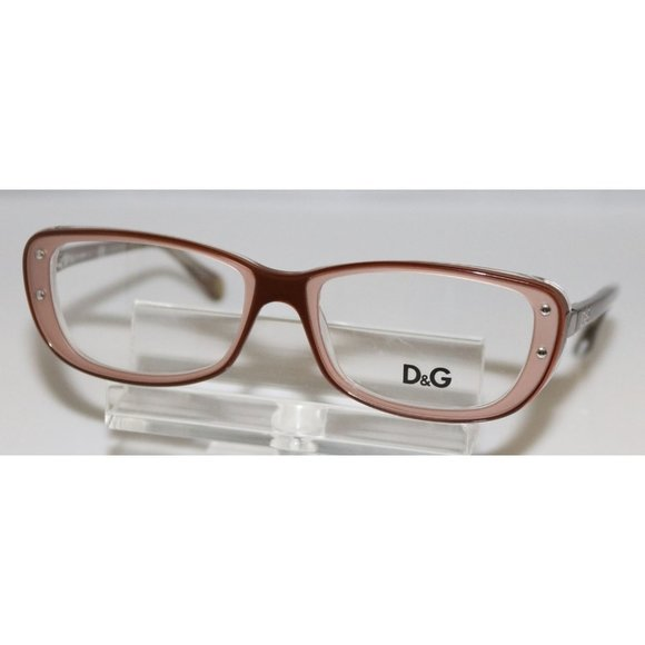 New Dolce & Gabbana Brown Eyeglasses